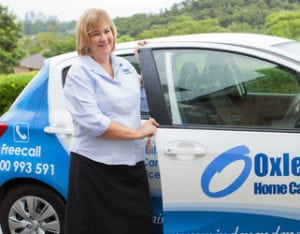 Home Care Package, Care Manager Kathie with Oxley Home Care Car