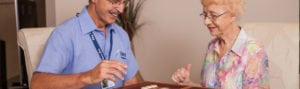 Veteran affairs home care for an Oxley Home Care client