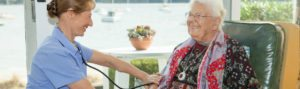 Oxley Home Care's Registered Nurse providing in home nursing care