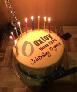 Oxley Home Cares 10th Birthday Cake