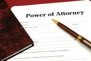 A form that says Power of Attorney at the top