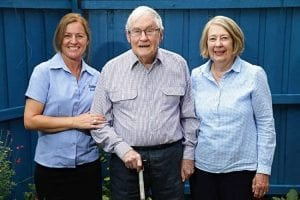 Aged Care, Leanne Hamer, Peter Haes, Sandra Haes, recipients of care from Oxley Home Care