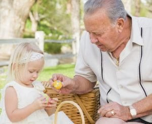Living at home, grandfather celebrates Easter with granddaughter, Oxley Home Care