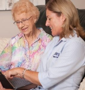 Home Care, Care Manager assessing client for home care, Oxley Home Care