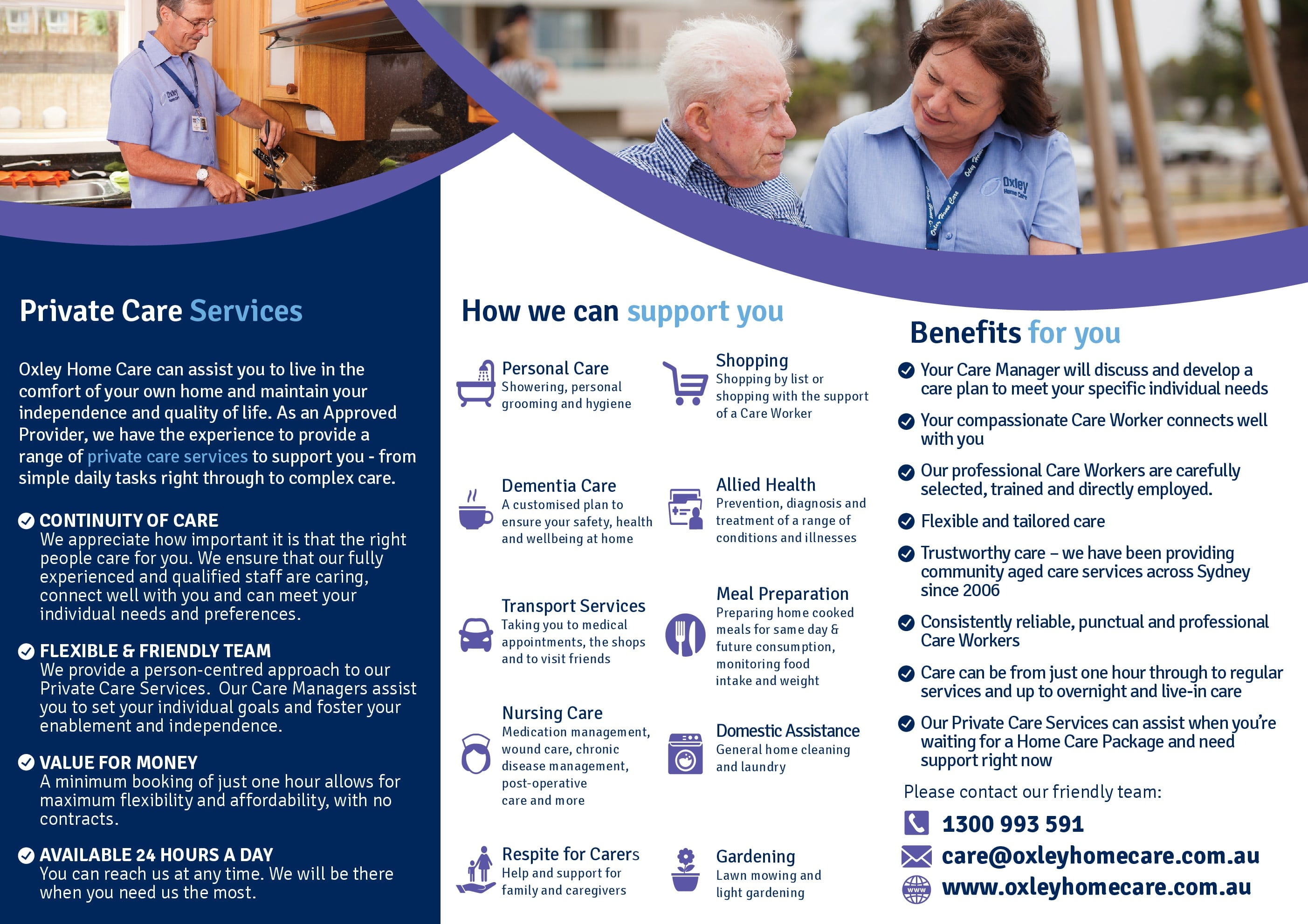 Oxley Home Care Private Care Services
