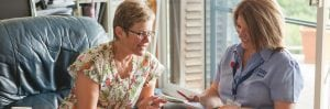 Care Worker and client considering Home Care Readiness Letter